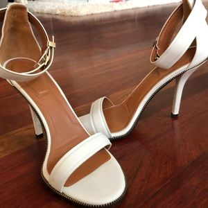 White Givenchy Sandals 38 1/2